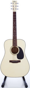 Musical Instruments:Acoustic Guitars, Circa Early 1980's Aria PW-19W White Acoustic Guitar, #554867....