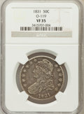 Bust Half Dollars, 1831 50C VF35 NGC. O-119. NGC Census: (43/1350). PCGS Population(73/1477). Mintage: 5,873,660. Numismedia Wsl. Price for p...