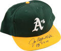 "Baseball Collectibles:Hats, Jim Catfish Hunter ""PG 5-8-68"" Signed Oakland Athletics Cap...."