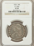 Bust Half Dollars, 1826 50C VF30 NGC. O-108a. NGC Census: (37/1311). PCGS Population(46/1557). Mintage: 4,000,000. Numismedia Wsl. Price for ...
