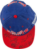 Football Collectibles:Others, New York Giants Stars Multi Signed Cap....