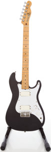 Musical Instruments:Electric Guitars, 1980's Squier by Fender Bullet Black Solid Body Electric Guitar,#SQ17591....