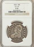 Bust Half Dollars, 1826 50C Fine 15 NGC. O-119. NGC Census: (8/1383). PCGS Population(10/1646). Mintage: 4,000,000. Numismedia Wsl. Price for...