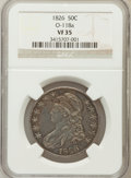 Bust Half Dollars, 1826 50C VF35 NGC. O-118a. NGC Census: (24/1287). PCGS Population(78/1479). Mintage: 4,000,000. Numismedia Wsl. Price for ...