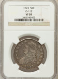 Bust Half Dollars, 1823 50C VF20 NGC. O-112.NGC Census: (10/670). PCGS Population(18/768). Mintage: 1,694,200. Numismedia Wsl. Price for prob...
