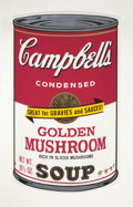 Prints:Contemporary, ANDY WARHOL (American, 1928-1987). Campbell Soup II (GoldenMushroom), 1969. Color screenprint . 35 x 23 inches (88.9 x ...