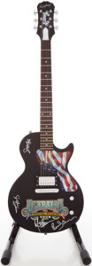 Musical Instruments:Electric Guitars, 2003 Epiphone Alabama Les Paul Limited Edition Black Solid Body Electric Guitar, #SJ8000-1996....