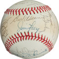 Baseball Collectibles:Balls, Circa 1981 Baltimore Orioles Team Signed Baseball (26 Signatures)...