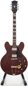 Musical Instruments:Electric Guitars, 1970's ES-345 Copy Wine Red Semi-Hollow Body Electric Guitar....