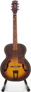 Musical Instruments:Acoustic Guitars, Circa 1950's Harmony Sunburst Archtop Acoustic Guitar....