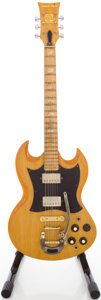 Musical Instruments:Electric Guitars, Circa 1970's Ampeg Super Stud Natural Solid Body ElectricGuitar....