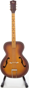 Musical Instruments:Acoustic Guitars, Circa 1960's Kay Sunburst Archtop Acoustic Guitar....