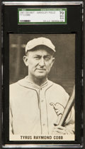 Baseball Cards:Singles (1940-1949), 1961 Wrigley Field Exhibits Ty Cobb SGC 70 EX+ 5.5....