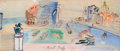 Impressionism & Modernism:Fauvism, RAOUL DUFY (French, 1877-1953). Venise Imaginaire, circa1948-50. Gouache on paper. 10 x 23-1/4 inches (25.4 x 59.1 cm)...