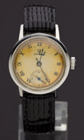 Timepieces:Wristwatch, Omega Manual Wind Vintage Wristwatch. ...