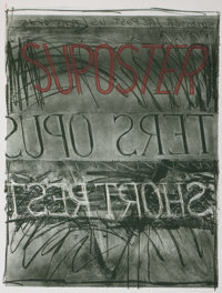 BRUCE NAUMAN (American, b. 1941) Suposter, 1972/1973 Color lithograph and screenprint 36-1/8 x 29