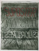 BRUCE NAUMAN (American, b. 1941) Suposter, 1972/1973 Color lithograph and screenprint 36-1/8 x 29-3/4 inches (91.7 x
