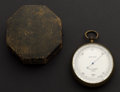 Timepieces:Other , W. & L. E. Gurley Troy N.Y. Field Barometer With Original Box& Department Of Interior Paper. ...