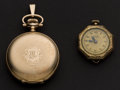 Timepieces:Pocket (post 1900), Waltham For Benedict Bros. & Swiss L.A.K Pocket Watches Runners. ... (Total: 2 Items)