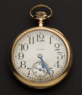 Timepieces:Pocket (post 1900), Elgin 14k Heavy Gold 16 Size 23 Jewel Veritas. ...