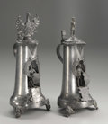Silver Holloware, Continental:Holloware, Two German Pewter Tankards . Unknown makers, Germany. NineteenthCentury. Pewter. Unmarked. Tallest: 15.25 in. high. On... (Total: 2)