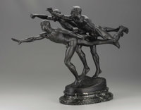 A French Bronze Sculpture: Au But  After Alfred Boucher (1850-1934) Cast by Siot Foundry, Paris, France Late Ninete