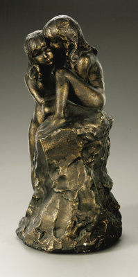 attributed to Bashka Paeff (American, born after 1893, died after 1979) Two Girls Plaster 13.75in. x 6.75in. x 6.5in. Un...