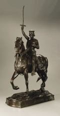 Fine Art - Sculpture, American:Modern (1900 - 1949), Charles Henry Humphriss (American, 1867-1934). King Arthur. Bronze.35in. x 19in. x 7.5in.. Signed and dated on base. On bas...