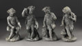 Fine Art - Sculpture, European:Antique (Pre 1900), A Continental Allegorical Figures Of The Four Seasons. Continental.Nineteenth Century. Lead. 18 in. high (each). Four l... (Total: 4Items)