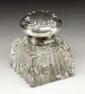Silver Smalls:Other , An American Glass and Silver Inkwell. Gorham Manufacturing Company,Providence, Rhode Island. 1894. Molded glass and silve...
