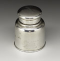 Silver Smalls:Other , An American Silver Travelling Inkwell. Tiffany & Co., New York,New York, 1875. Silver and glass. Marks: TIFFANY &CO.,...