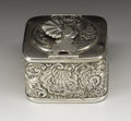 Silver Smalls:Other , An American Silver Travelling Inkwell. Gorham ManufacturingCompany, Providence, Rhode Island. 1914. Silver and glass. Mar...(Total: 1 Item)