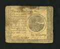 Colonial Notes:Continental Congress Issues, Continental Currency September 26, 1778 $20 Very Fine. Thispleasing Continental note has a quarter inch tear within a stain...