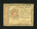 Colonial Notes:Continental Congress Issues, Continental Currency January 14, 1779 $20 Very Fine. A verypleasing example from this final Continental issue....