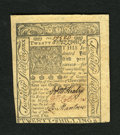 Colonial Notes:Delaware, Delaware January 1, 1776 20s Choice New. A Choice New note withgreat print quality and bold signatures....