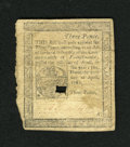 Colonial Notes:Pennsylvania, Pennsylvania April 20, 1781 3d Very Fine. This is a much scarcerlater issue which appears to be a wonderfully margined Very...