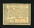 Colonial Notes:Rhode Island, Rhode Island July 2, 1780 $20 New. A near gem example from thislater Rhode Island issue that has a tape repair strip on the...