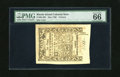 Colonial Notes:Rhode Island, Rhode Island May 1786 6d PMG Gem Uncirculated 66EPQ. Four hulkingmargins are accompanied by superb print quality and some o...
