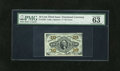 Fractional Currency:Third Issue, Fr. 1256 10c Third Issue PMG Choice Uncirculated 63EPQ. Punch through embossing and blinding bronzing both practically jump ...