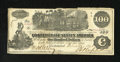 Confederate Notes:1862 Issues, T39 $100 1862. Edge wear is noticed on this Very Fine example....