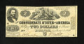 Confederate Notes:1862 Issues, T42 $2 1862. The edges and paper are nice for the grade with only acouple of pinholes. Very Fine....