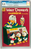 Golden Age (1938-1955):Cartoon Character, Walt Disney's Comics and Stories #178 (Dell, 1955) CGC VF/NM 9.0Off-white to white pages....