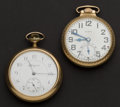 Timepieces:Pocket (post 1900), Two Elgin 17 & 21 Jewel Pocket Watches Runners. ... (Total: 2Items)
