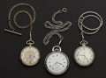 "Timepieces:Pocket (post 1900), Hampden 23 Jewel 16 Size, Hampden 21 Jewel ""Ohioan"", Elgin 12 Size15 Jewel Watches. ... (Total: 3 Items)"