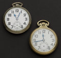 Timepieces:Pocket (post 1900), Two Pocket Watches, Elgin's 21 Jewel B.W. Raymond & Hamilton992. ... (Total: 2 Items)