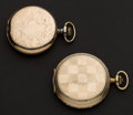 Timepieces:Pocket (post 1900), Elgin & Favor Hunter Cases Pocket Watches Runners. ... (Total: 2 Items)