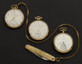 Timepieces:Pocket (post 1900), Three 12 Size Pocket Watches Runners, Two Waltham's, One Elgin. ... (Total: 3 Items)