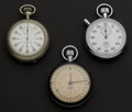 Timepieces:Other , Three Timers One Elgin & Two Heuer's Runners. ... (Total: 3 Items)