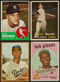 Baseball Cards:Lots, 1957 & 1963 Topps Superstars and HoFer Group (5). ...