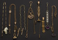 Timepieces:Watch Chains & Fobs, Eight Chains & Fobs. ... (Total: 8 Items)